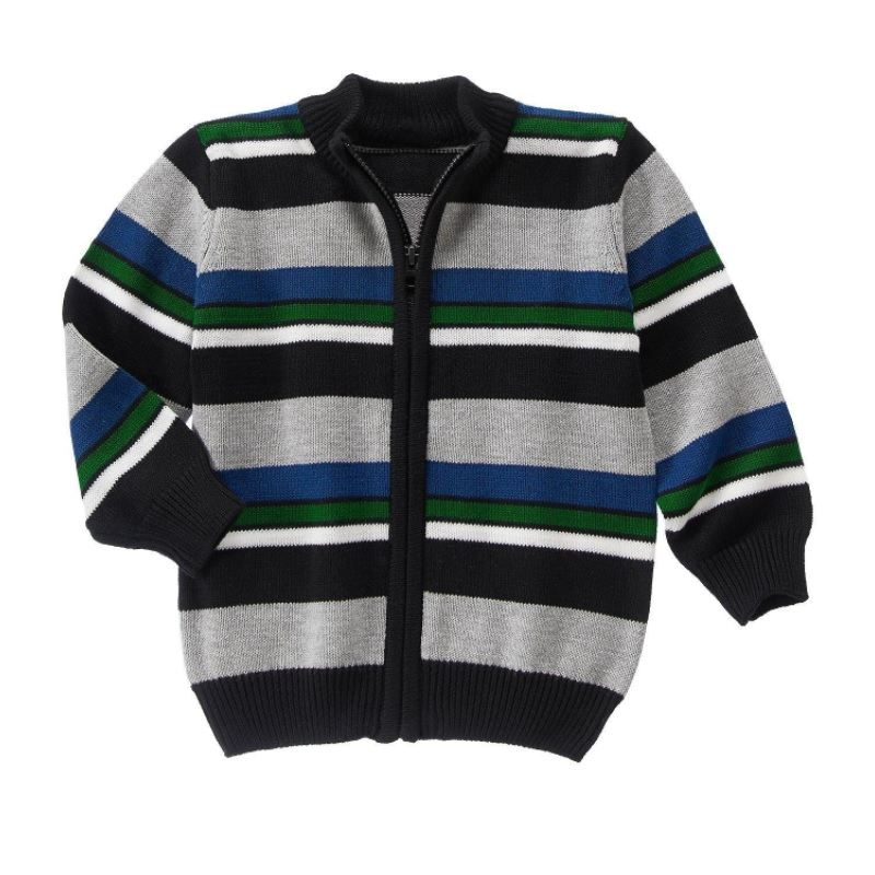 NWT Gymboree Red White Fair Isle Hooded Sweater Size 3-6 M