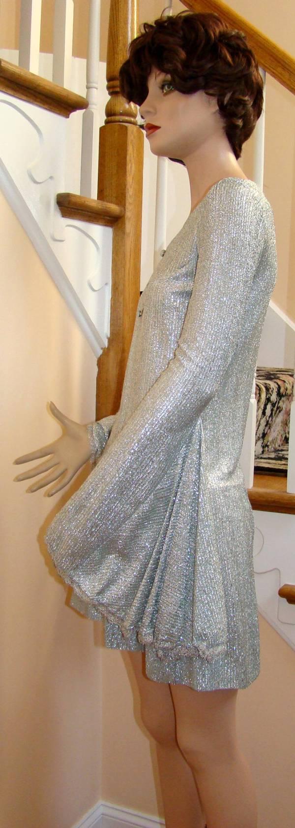 Vintage 1960s BETSEY JOHNSON for Paraphernalia Silver Lame MiniDress ...