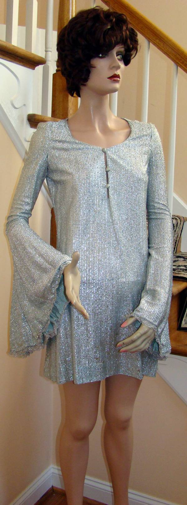 Vintage 1960s BETSEY JOHNSON for Paraphernalia Silver Lame MiniDress ...