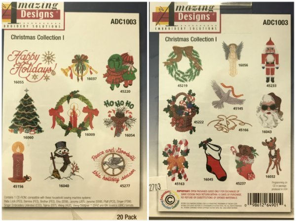 VINTAGE CHRISTMAS CARDINALS COLLECTION MACHINE EMBROIDERY DESIGNS ON CD OR USB
