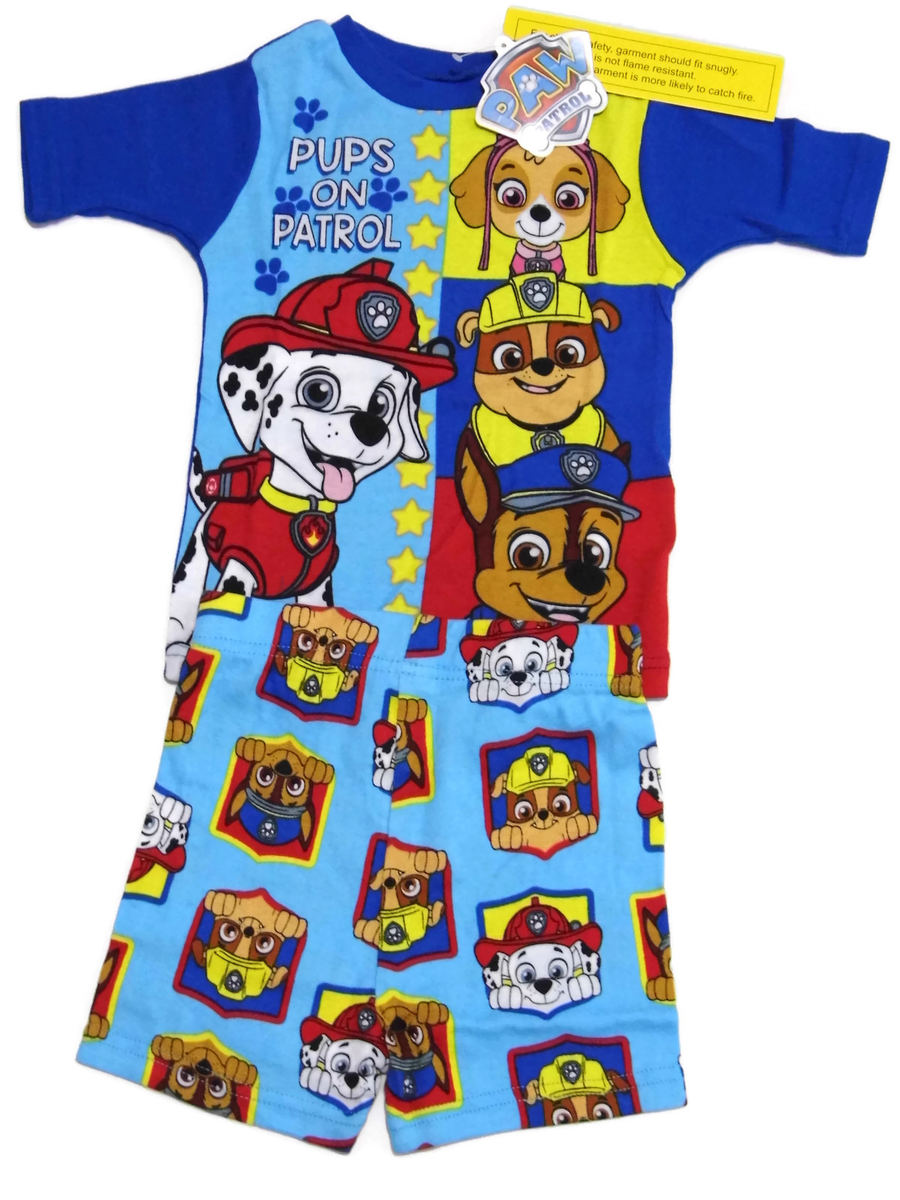 Details about Paw Patrol Boys Pajama Short Set Size 4 Pups On Patrol  Sleepwear New 780e74ebe