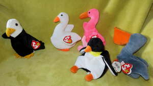 Gracie tiger Mint! Lot Of 3 Beanie Babies Baldy eagle swan and Stripes