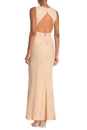 Details About 398 Alice Olivia Blush Pink Sachi Cutout Lace Open Back Maxi Dress 8 Nwt A219