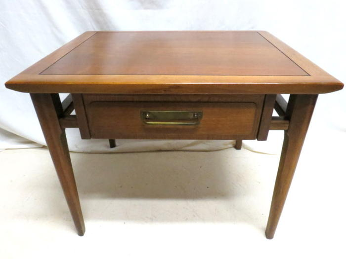 Attrayant Details About Lane Furniture End Lamp Side Table Mid Century Danish Modern  Walnut With Drawer
