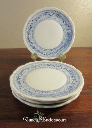 FOUR Syracuse Americana Blue Liberty Patriotic Restaurantware Plates & FOUR Syracuse Americana Blue Liberty Patriotic Restaurantware Plates ...