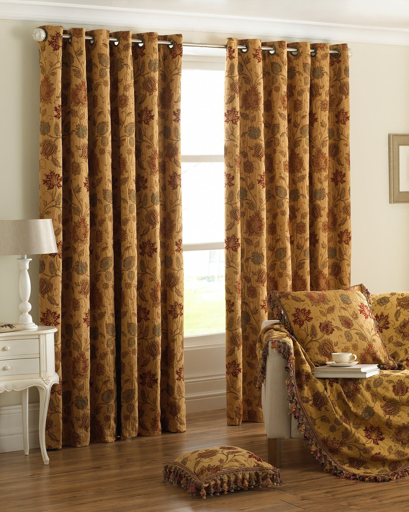 168x229 Heavy Chenille Antique Gold