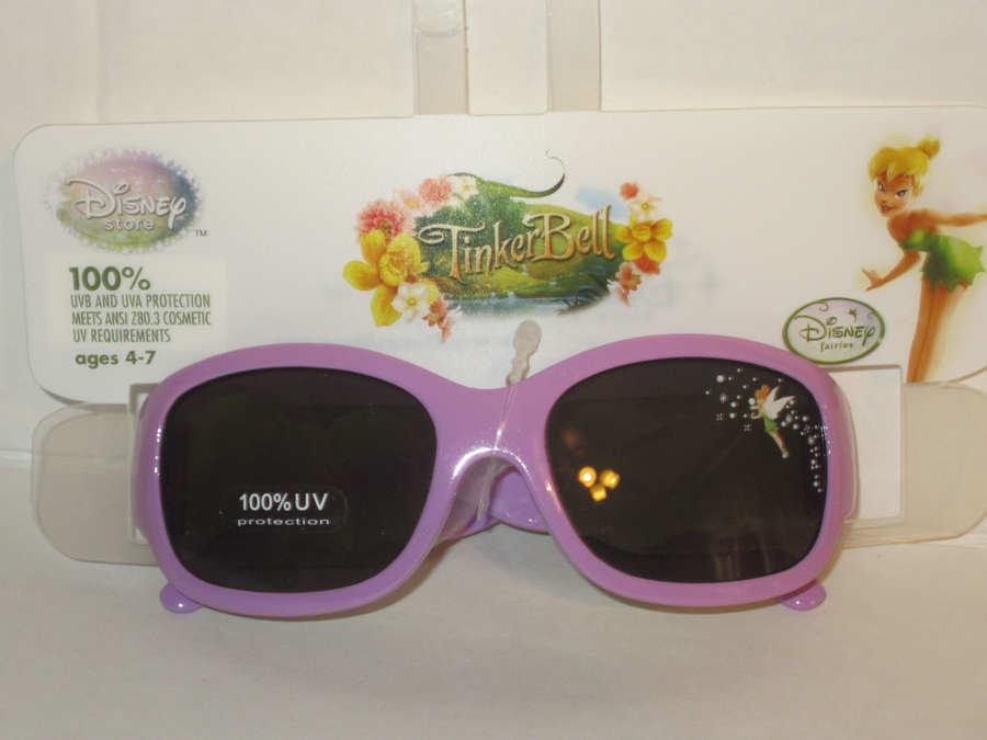 Authentic Disney Purple Tinkerbell kids polycarbonate sunglasses 100/%uva//uvb