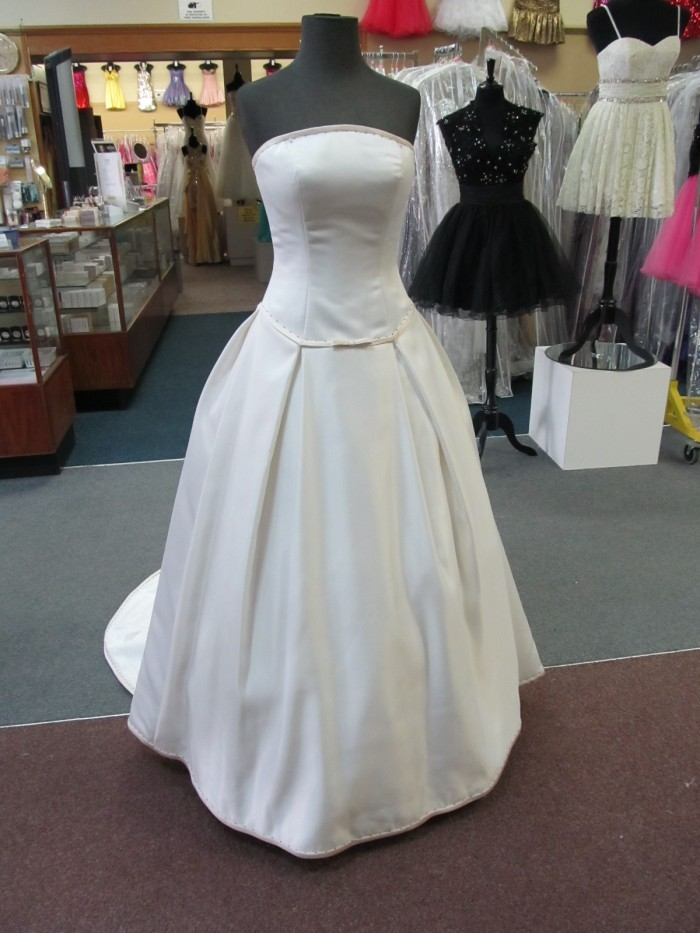 MORI LEE IVORY/CHAMPAGNE DUCHESS SATIN Bridal Ballgown Gown Dress ...