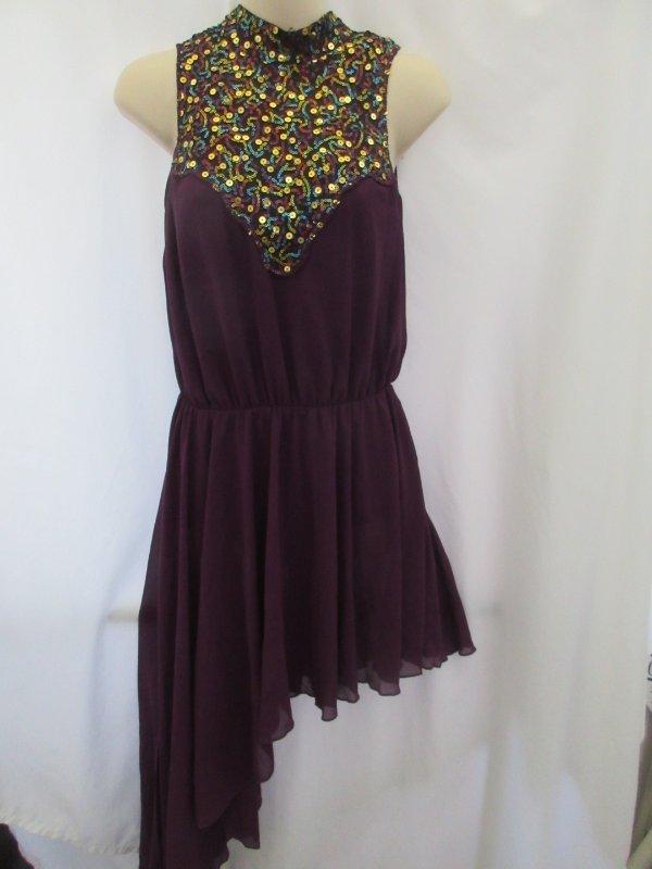Contemporary ballet costumes~ Arabian 1 dress or set of 7 plum//gold