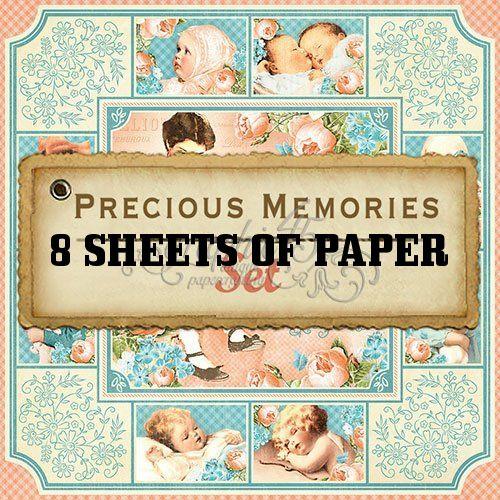 Graphic 45 Quot Precious Memories Quot 12x12 Paper Pack 8 Pcs