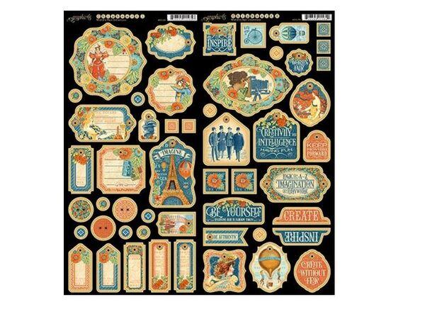 Graphic 45 4501180 World/'s Fair Chipboard 1
