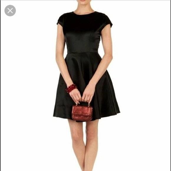 Nwot Ted Baker Black Haydaa Silk Skater Dress Ted Baker 1 Us 4 Ebay