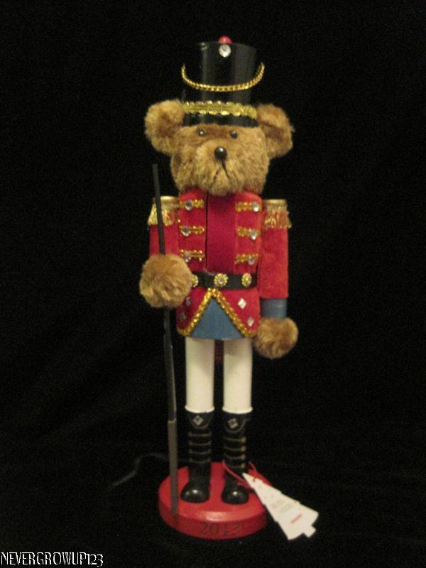 2013 Martha Stewart Holiday Christmas 14 Teddy Bear Nutcracker Figurine Nwt Ebay
