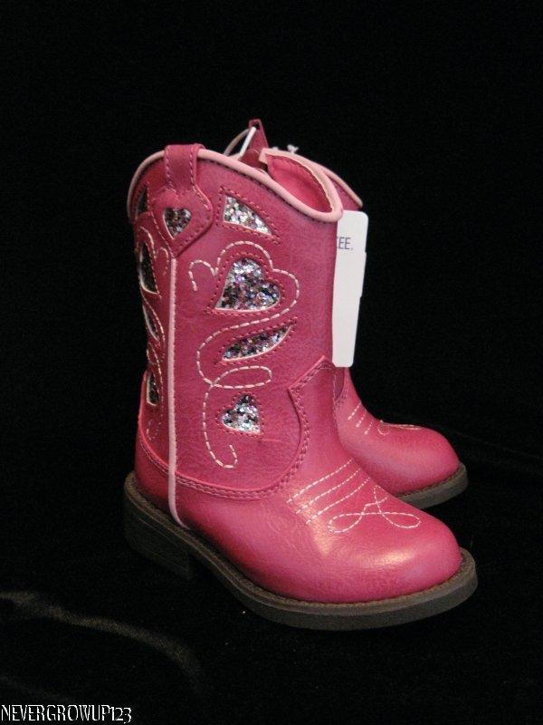 little girls pink boots