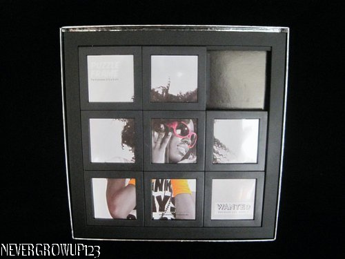 SLIDE PUZZLE PICTURE FRAME~HOLDS 8 MOVEABLE PHOTOS~9-3/8\