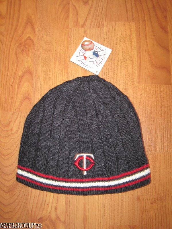 01428be4f79 Details about MINNESOTA TWINS NAVY~CABLE KNIT STOCKING HAT~CAP~BEANIE~WOMEN S  FIT~NWT