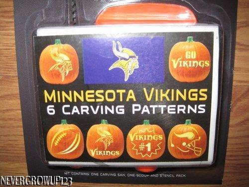 Nfl minnesota vikings sports pumpkin carving kit tools