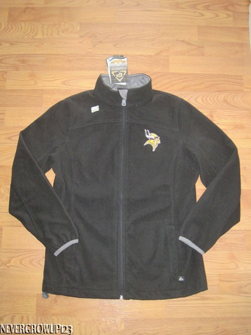brand new f2751 a5188 Details about MINNESOTA VIKINGS WOMENS~LADIES M~L~BLACK FLEECE PERFORMANCE  JACKET~e-SYSTEMS~NW