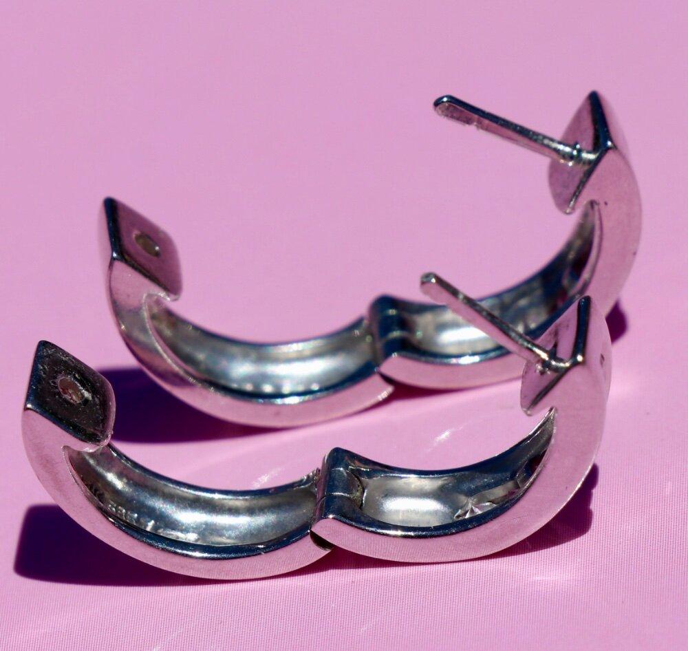 14K 585 SOLID WHITE GOLD DIAMOND CUSTOM-MADE BRAIDED WEDDING RING ...