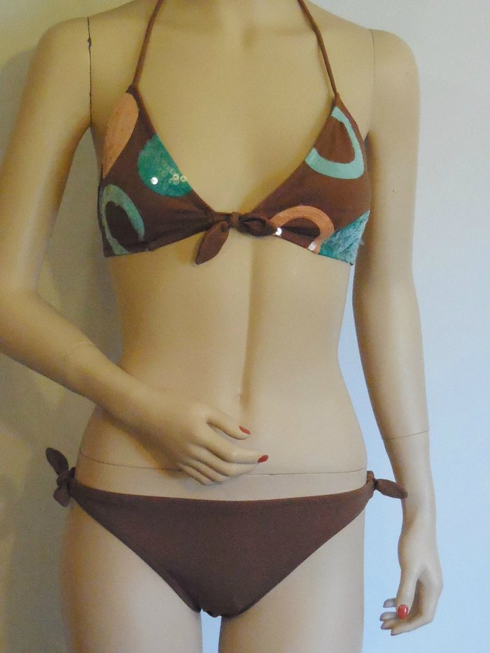 9578217b12 Details about NEW VICTORIA'S SECRET SEQUIN EMBELLISHED BIKINI TOP SIZE  LARGE & SMALL BOTTOMS