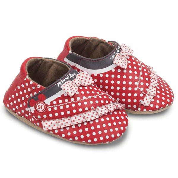 Nib Disney Minnie Mouse Crib Shoes Stride Rite Red White