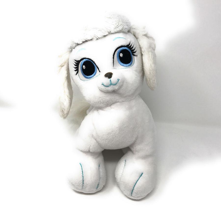 Disney Princess Cinderella Palace Pets Plush Pumpkin White Puppy Stuffed Animal