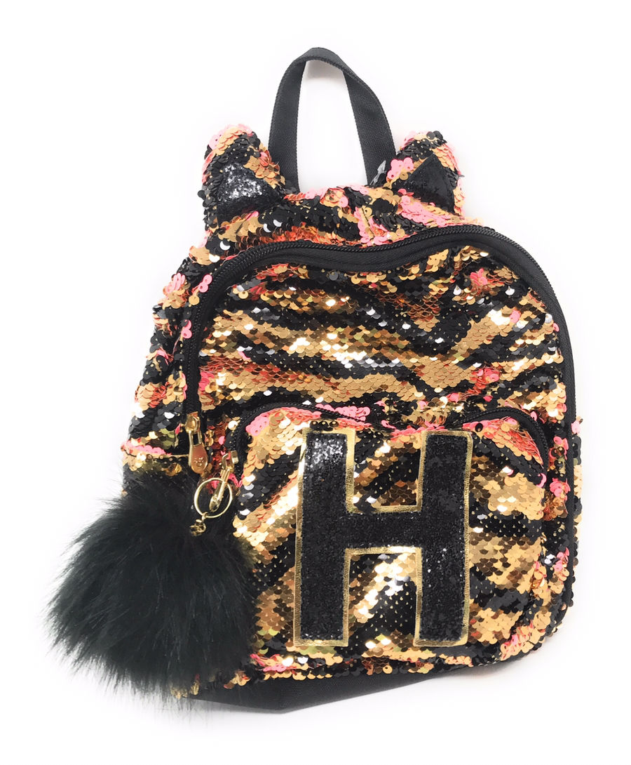 "JUSTICE Girls Flip Sequin Mermaid Mini Backpack Initial /""A/"" FREE SHIPPING"