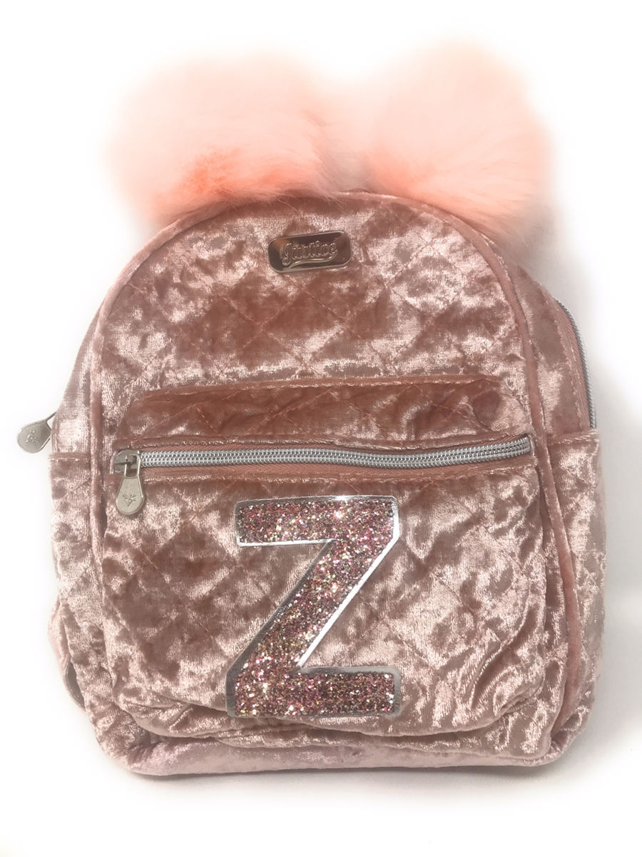 NWT Justice Girls Initial Quilted Sequin MINI Backpack Choose Letter!