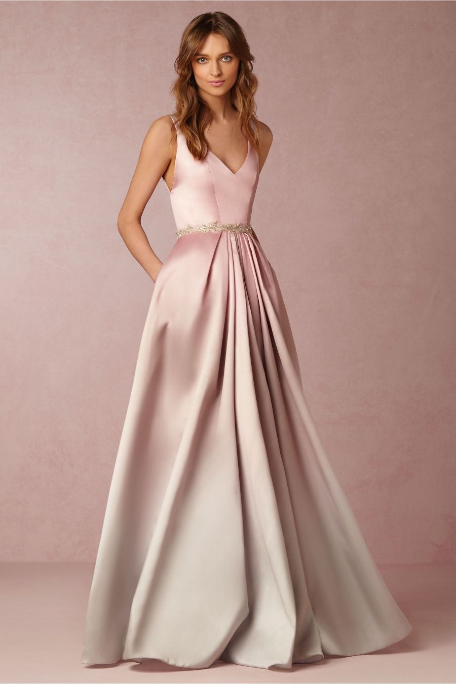 Anthropologie BHLDN Blush Ombre Lorraine Dress-2-$995 MSRP | eBay