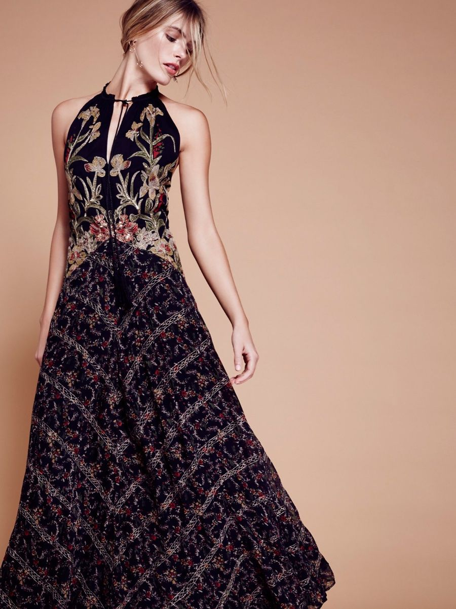 fc923666b9 Details about Free People Take Me Away Maxi Dress-6- 500 MSRP