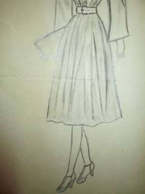 Recently had the opportunity to purchase a large grouping of vintage fashion sketch art that from the 1930s era these are all from the same aspiring