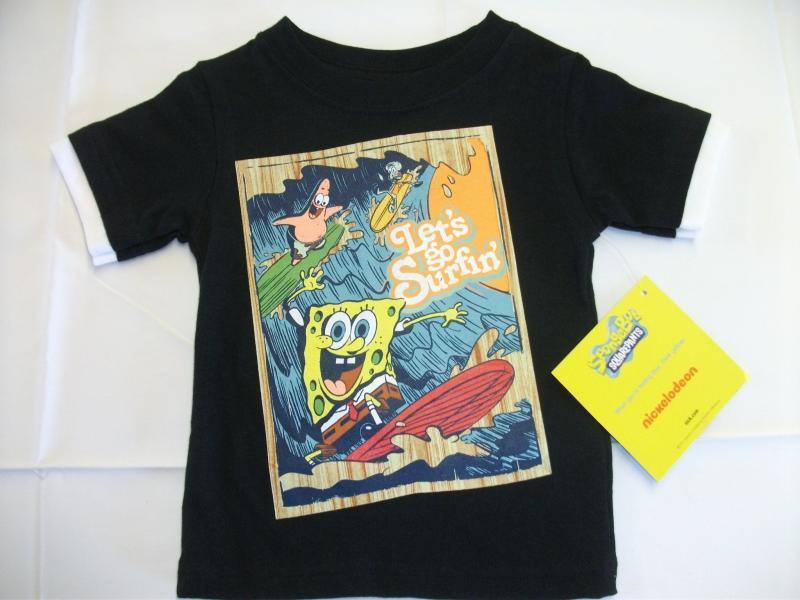 NEW Boys Sponge Bob T Shirt Top Sz 18 Mos Patrick Surfing Nickelodeon Spongebob