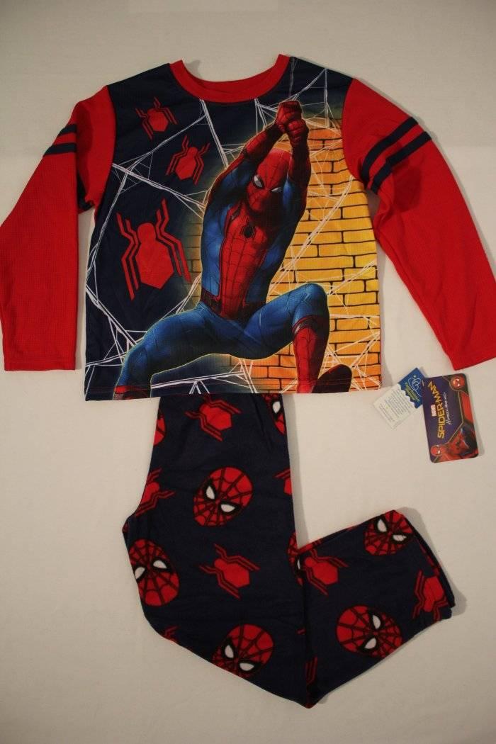 bf0665d6 NEW Boys Pajamas Set Small 6 - 7 Spiderman Homecoming Sleep Shirt ...