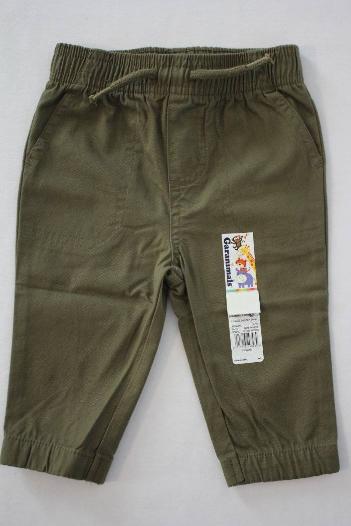 NEW Toddler Boys Pants Size 4T Canvas Navy Blue Jogger Pockets Garanimals Cotton