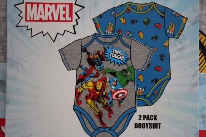 Baby Boys Marvel One Piece Bodysuit Short Sleeve 2 Pack Infant Bodysuits
