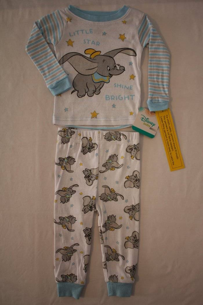 4504c3aa7 NEW Boys 2 piece Pajamas Set 12 Month Shirt Top Pants Disney Dumbo Elephant