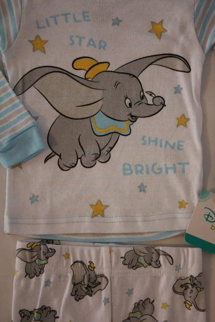 aabb89aec NEW Boys 2 piece Pajamas Set 12 Months Shirt Top Pants Disney Dumbo ...