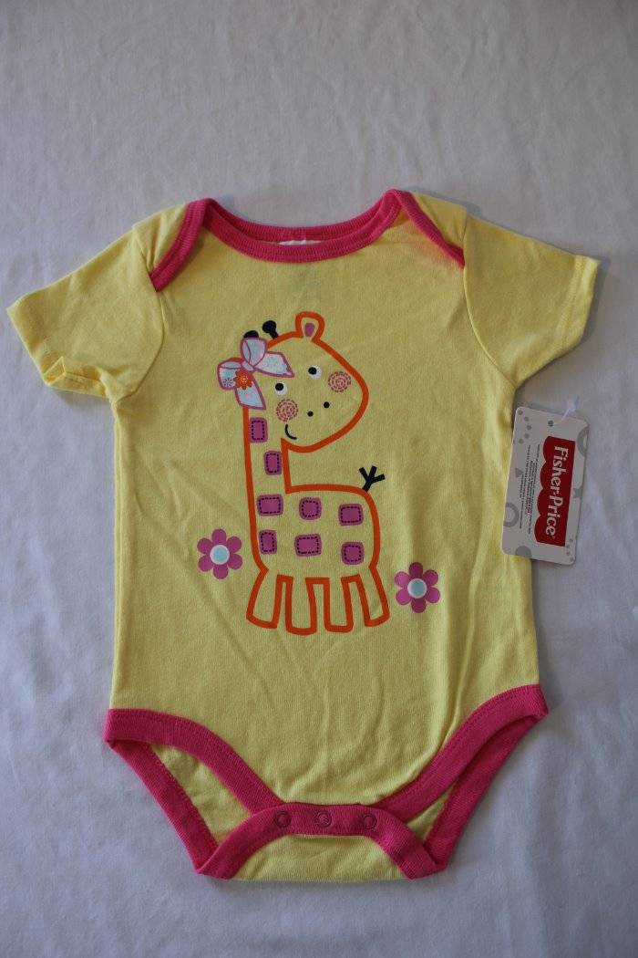 NEW Baby Boys Bodysuit 3-6 Months Monkey Giraffe Creeper Outfit 1 Piece Infant