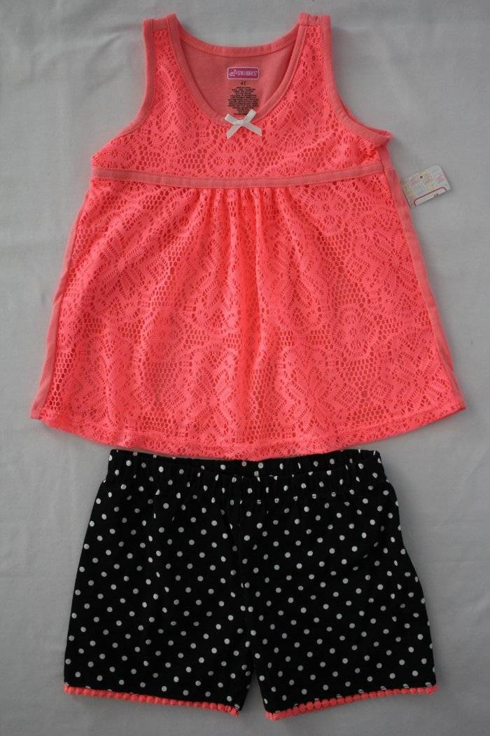 Size 2T NWT 2 PC Toddler Girls Leggings Black and Black with Ribbons 4T 3T