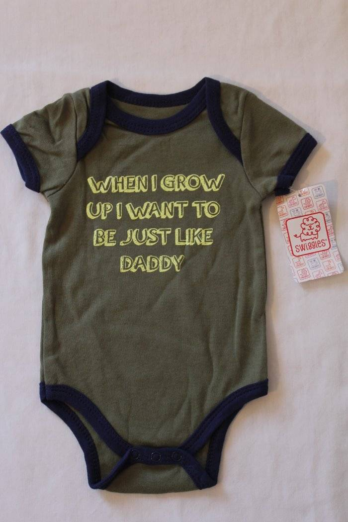 NEW Baby Boys Bodysuit 6-9 Months Shark Ocean Creeper Outfit 1 Piece Infant