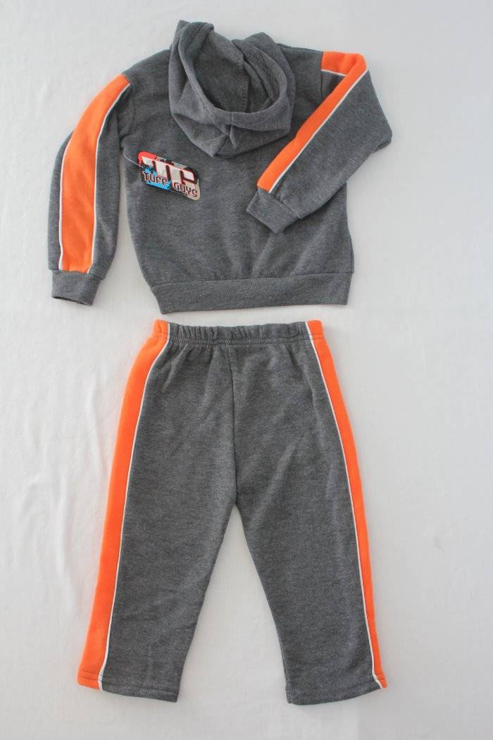 ed3905ea5455 NEW Baby Boys 2pc Sweats Outfit 12 Month Hoodie Jacket Pants Set ...