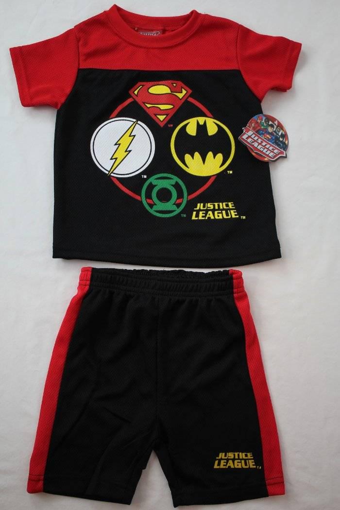 DC Comics Batman Superman Boys T-Shirt and Mesh Shorts Set