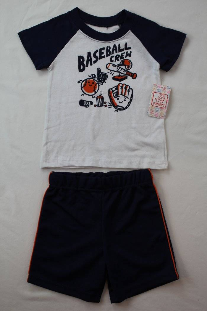 Childrens Kids 2 Piece Set Outfit T Shirt and Shorts 12months 7 Years