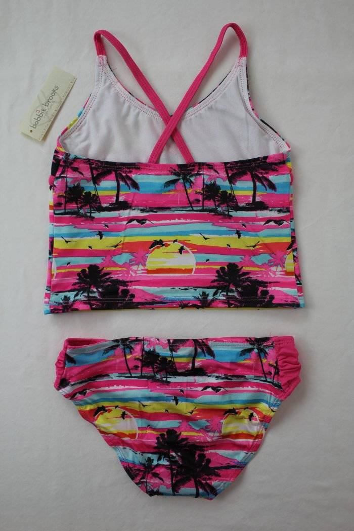 6//6X Size: S Tropic Print Bobbie Brooks Girl/'s Two-Piece Tankini Swimsuit