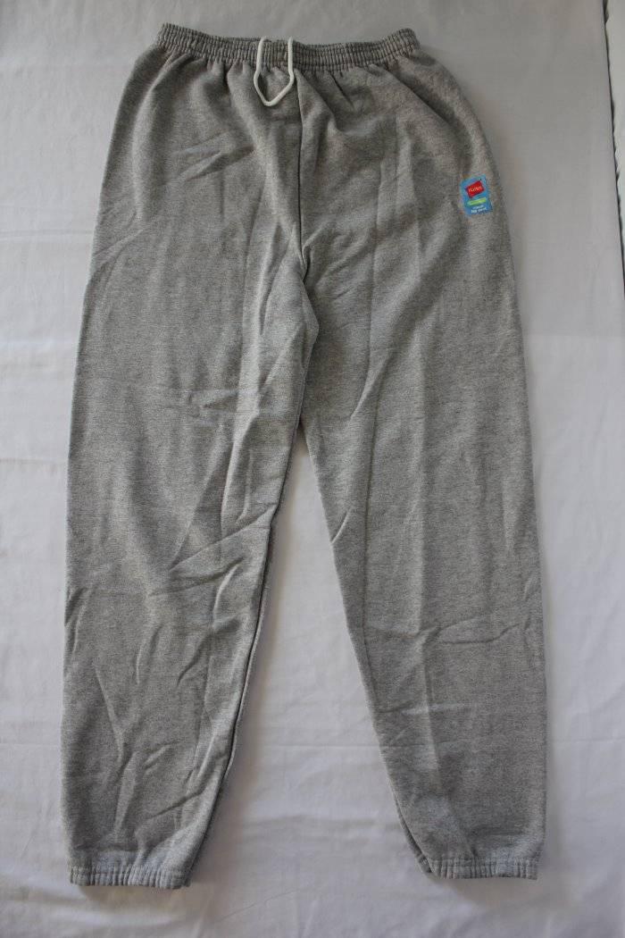 NEW Mens Hanes Sweatpants 2XL Gray Sweats Jogging Pants Workout Cinch Leg Lounge