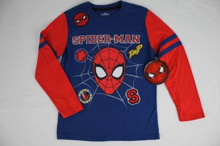 MARVEL SPIDER-MAN RED BLUE SUPER HERO LONG SLEEVE BOYS T-SHIRT MEDIUM 8