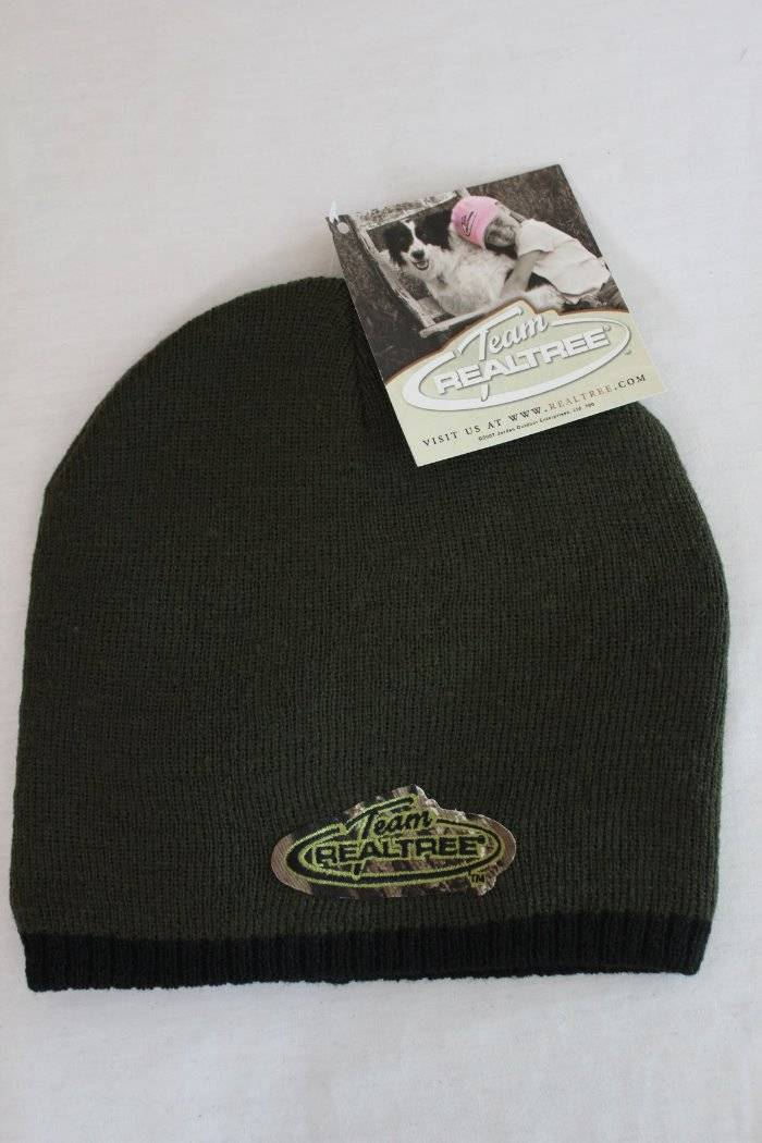 49a05ce9262 Details about Team RealTree Hunting Beanie Mens Hat Knit Skull Cap Green  One Size Deer Fishing