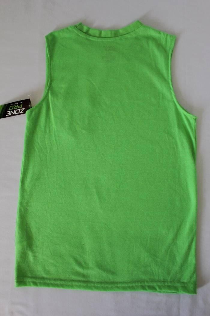 7b0a49278 Details about NEW Boys Tank Top Medium 8 - 10 Muscle Shirt Green Top Sleeveless  T Shirt Pocket