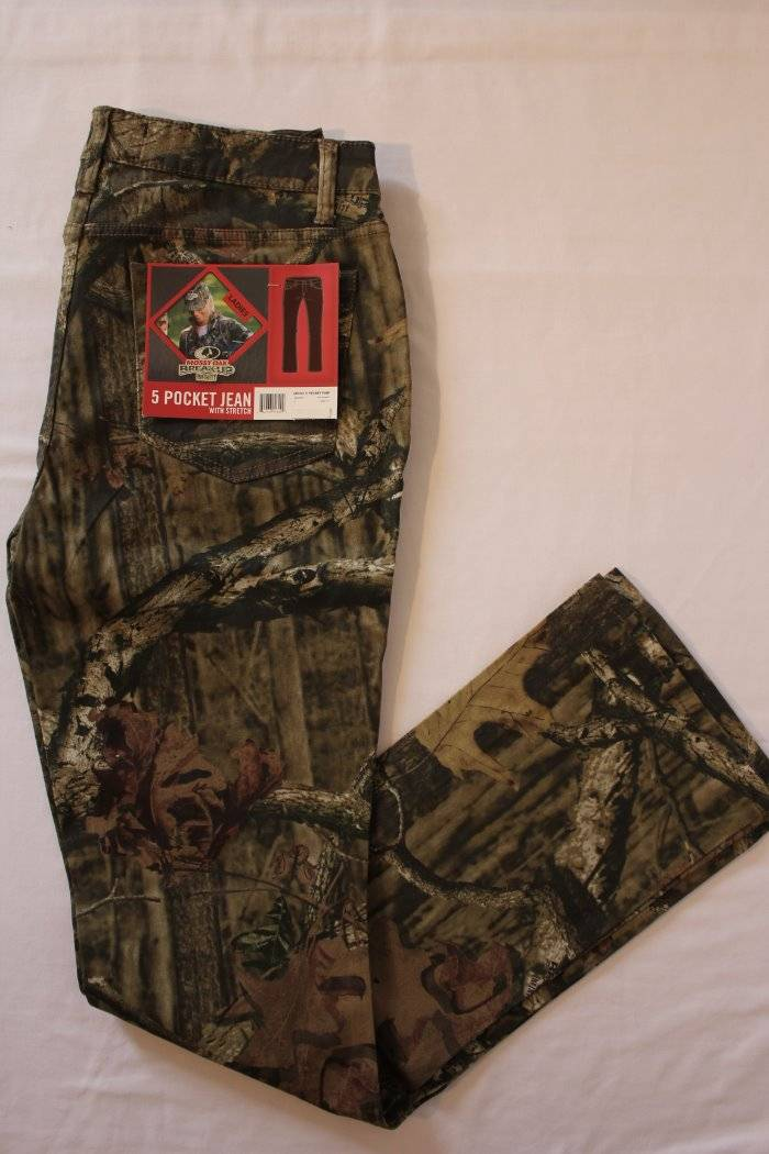 e567d84823b41 Details about Mossy Oak Break Up Infinity Jeans Size 14 Pants Camouflage  Deer Hunting Womens