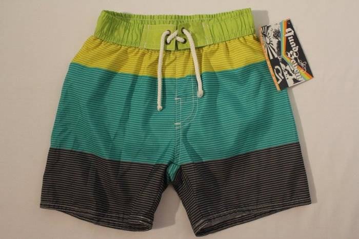 7b38cb6a7d Details about NEW Toddler Boys Swim Trunks Bathing Suit Shorts Size 2T  Lined Green Blue Summer